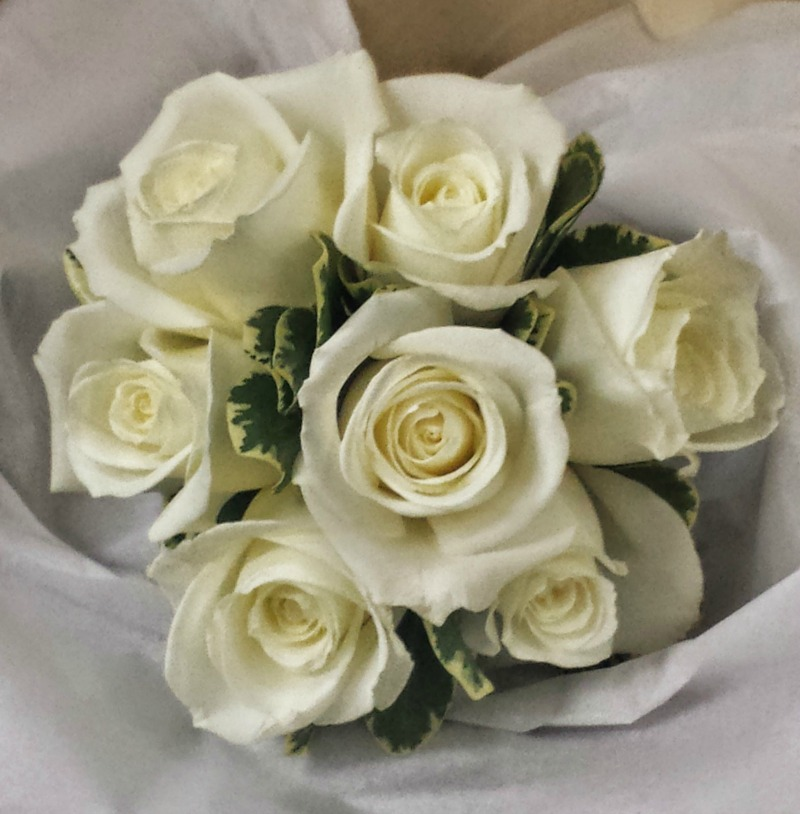 Small White Rose Bouquet