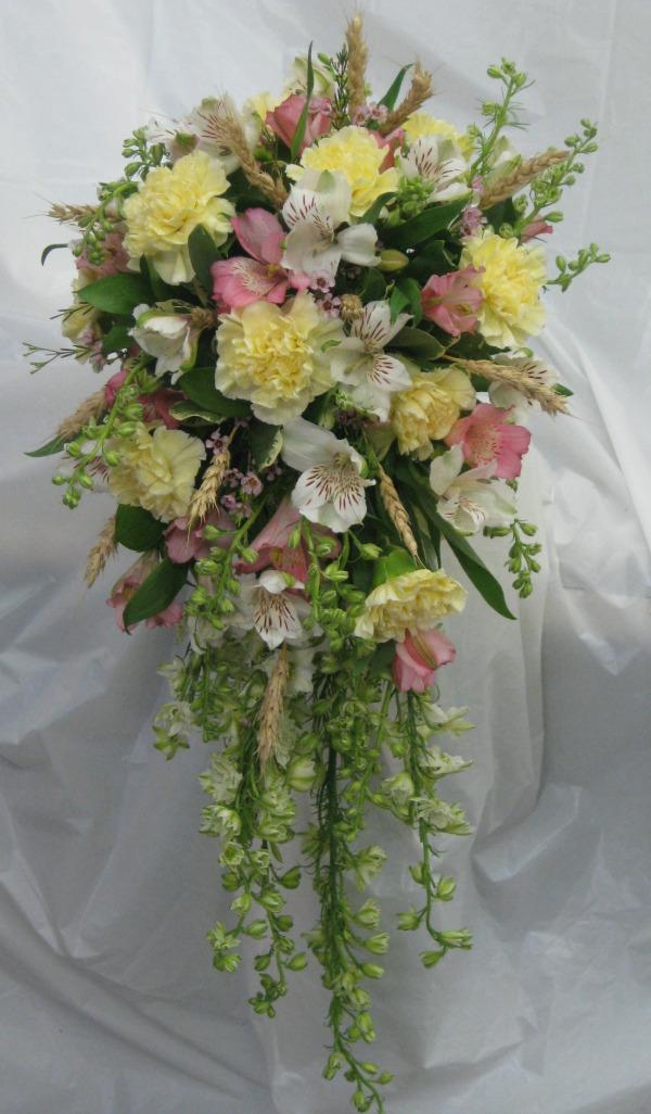 Cacading Bouquet carnation and alstromeria