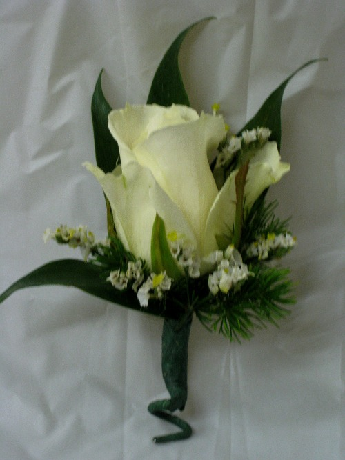 white rose boutiniere 9