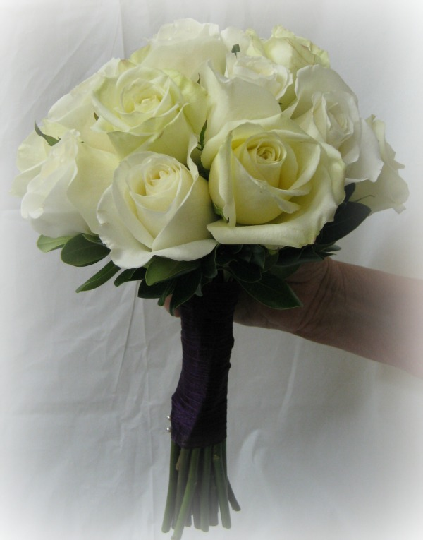 Green and Cream Roses