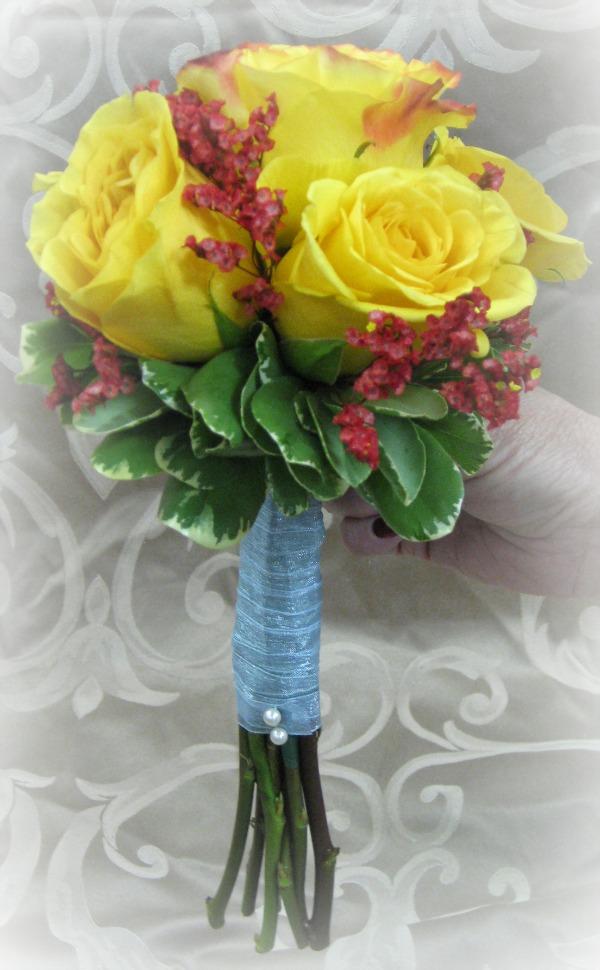 Yellow Rose Bridesmaid Bouquet