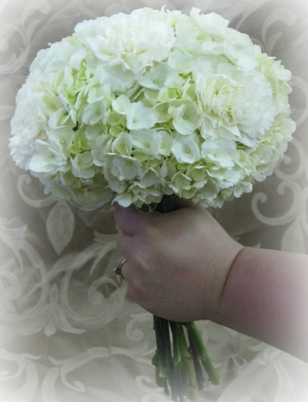 Large Hydrangea and carnation Hand Held