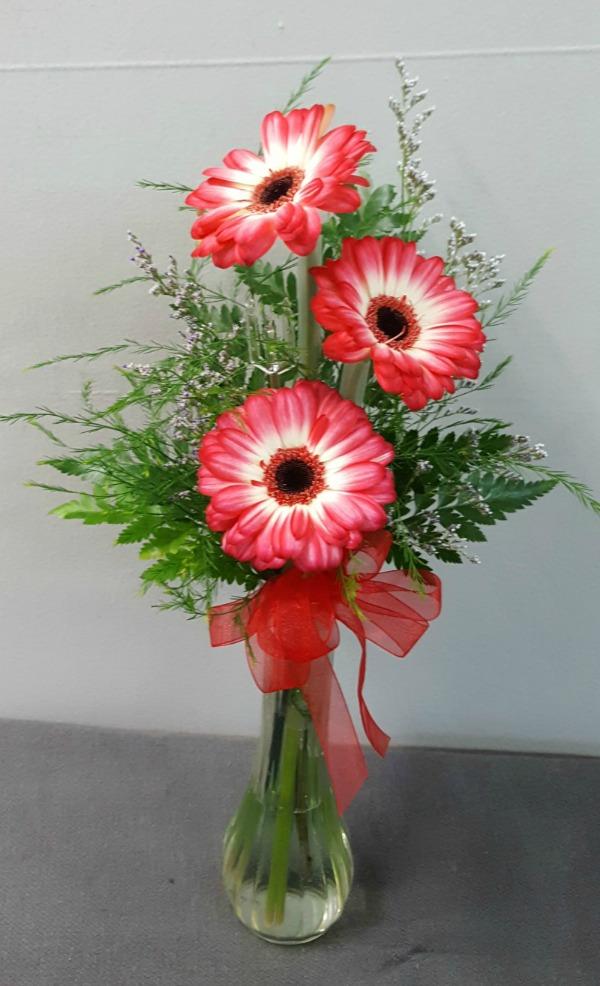 3 Mini Gerbera Vase