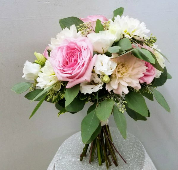 Pink and White Rose and Ranunculous Bouquet