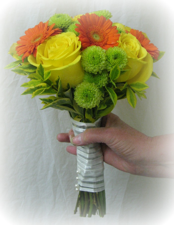 Orange, Yellow and Green Bouquet