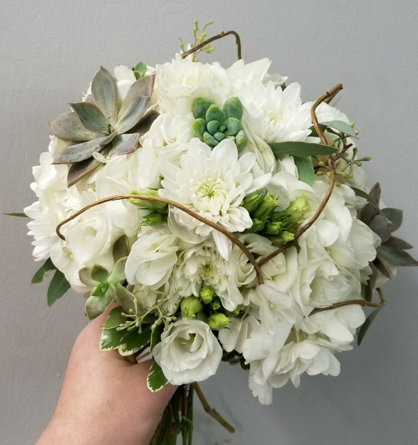 White and Succulent Bouquet